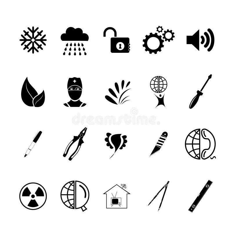 Set sieci ikony royalty ilustracja