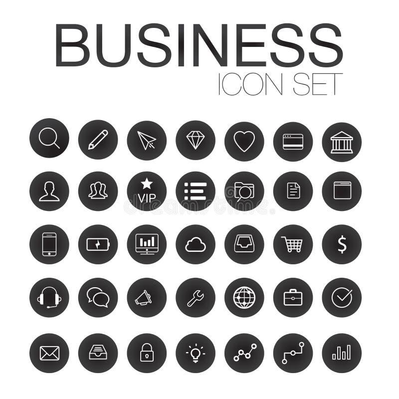 Set sieci linii ikony dla biznesu, finanse i komunikaci, royalty ilustracja