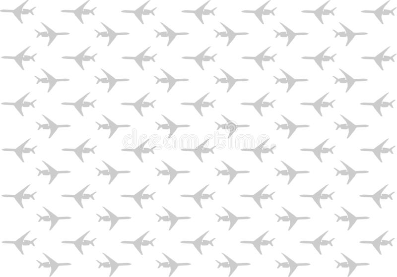 Set silhouette of a gray plane moving right to left a lot of design travel on a white background vector illustration