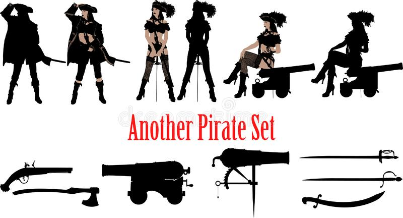 Another pirate set royalty free stock photo