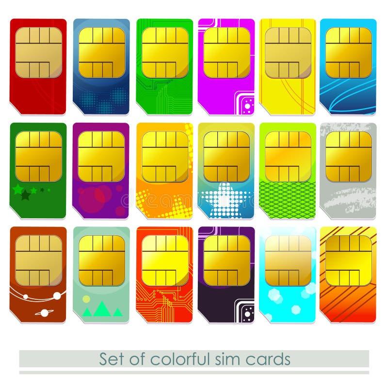 Set SIM Karten stock abbildung