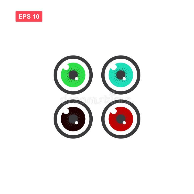Set of simple eye vector icon vector illustration