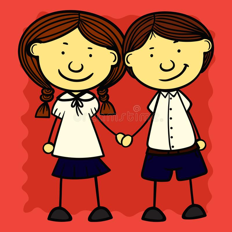 Set simple kids. Set kids of simple illustrations vector illustration