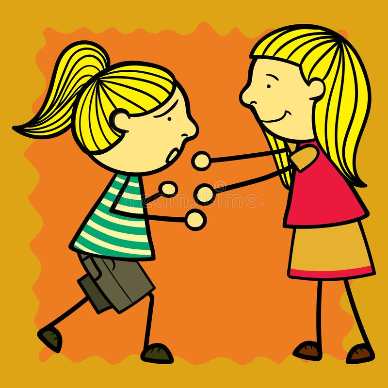Set simple kids. Set kids of simple illustrations stock illustration