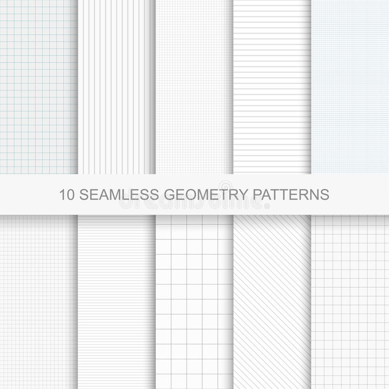Set of simple vector geometry patterns. vector illustration