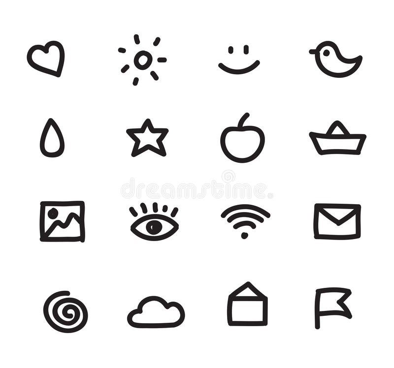 Set of simple web icons vector illustration