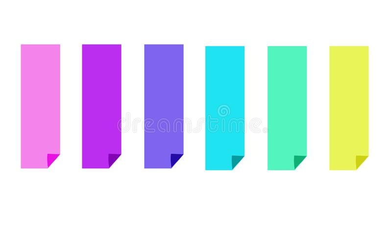 Set of six colorful bright banners stock illustration