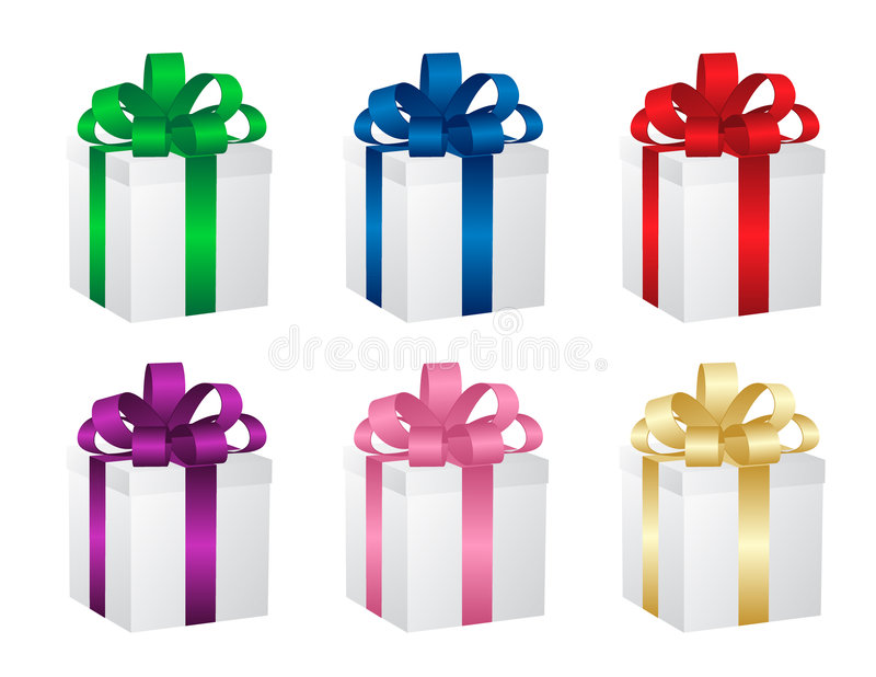 Download Set Of Six Gift Boxes. Vector. Stock Vector - Image: 7343784