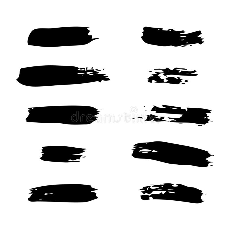 Hand drawn Paint Scribble Stains. Set of Sketch Scribble Smears. Hand drawn Paint Scribble Stains. Vector illustration royalty free illustration
