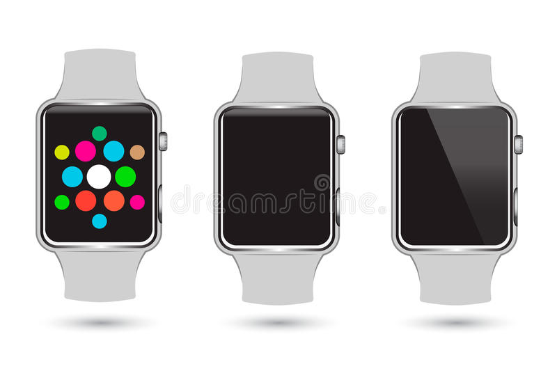 Set of Smart Watches icons vector illustration
