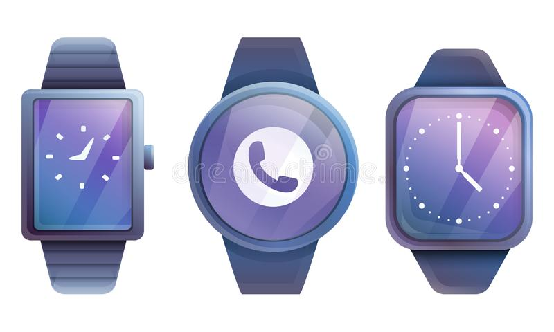 Set of smart watches. Vector illustration stock illustration