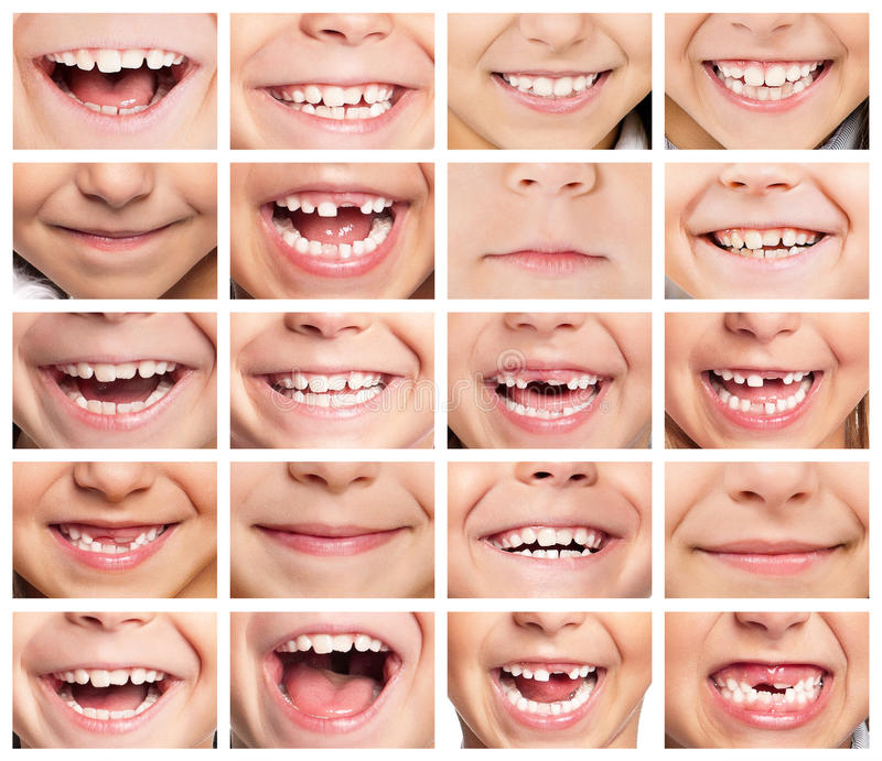 Set of smiles stock images