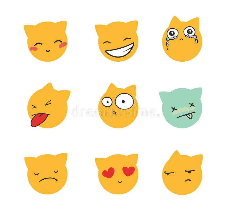 Set of smiles. This is file of EPS8 format vector illustration