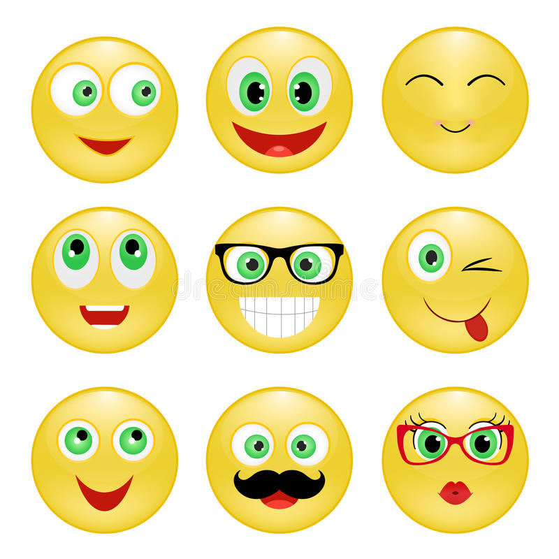Set smiley stock photography