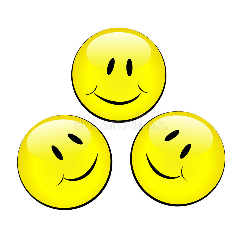 Set of smiley emotional faces