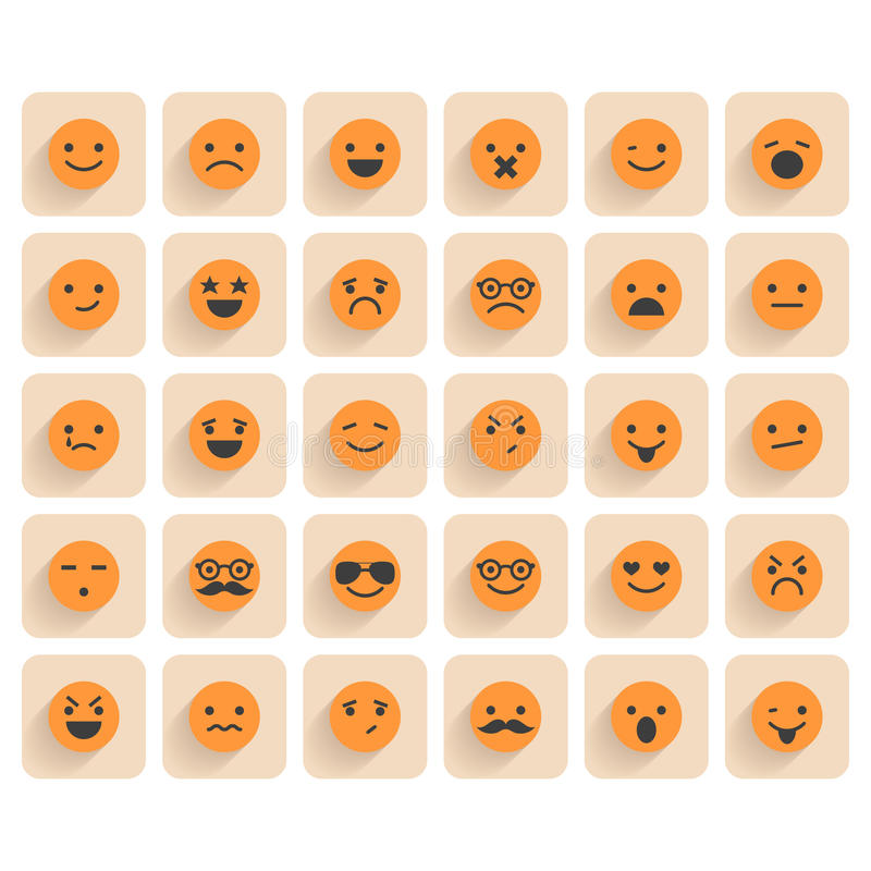 Set of smiley icons vector illustration