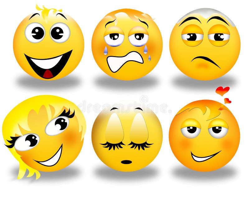 Download Set of smileys stock illustration. Image of smile, portrait - 22451300