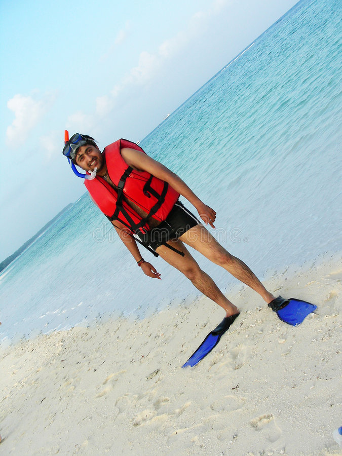 Download Set for Snorkeling stock photo. Image of smile, india - 7924782