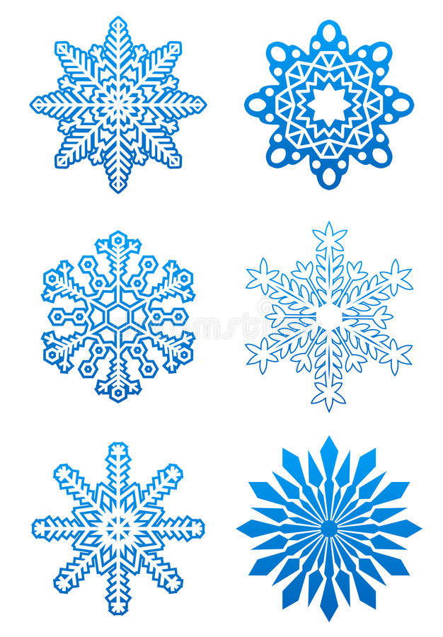 Download Set of snowflakes stock vector. Image of close, background - 11690125