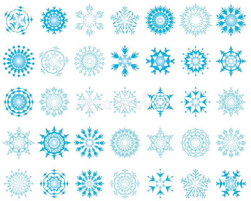 Download Set of snowflakes stock vector. Illustration of frozen - 7794187