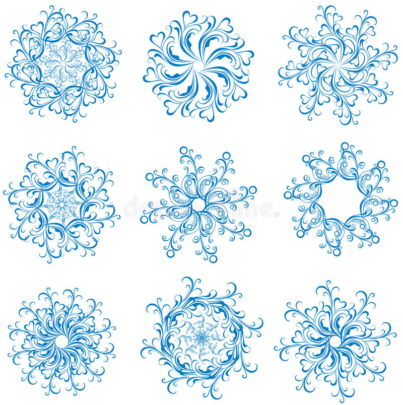Download Set Snowflakes. Vector Illustration Stock Photos - Image: 21171133