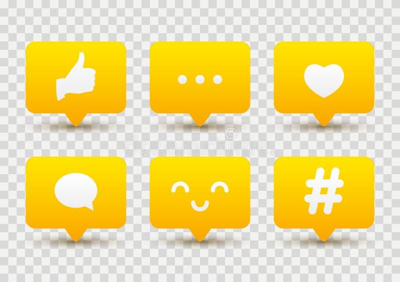 Set of social media icons vector illustration