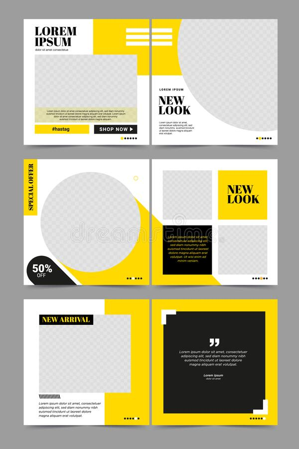 Set of social media Post Template Banner royalty free stock photography