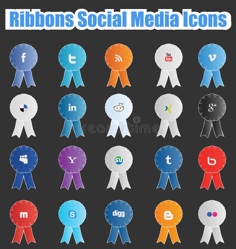 Download Ribbons Social Media Icons editorial image. Image of corporate - 29798095