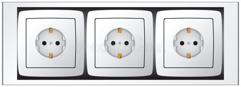 Download Set of sockets stock vector. Illustration of socket, jack - 29238833
