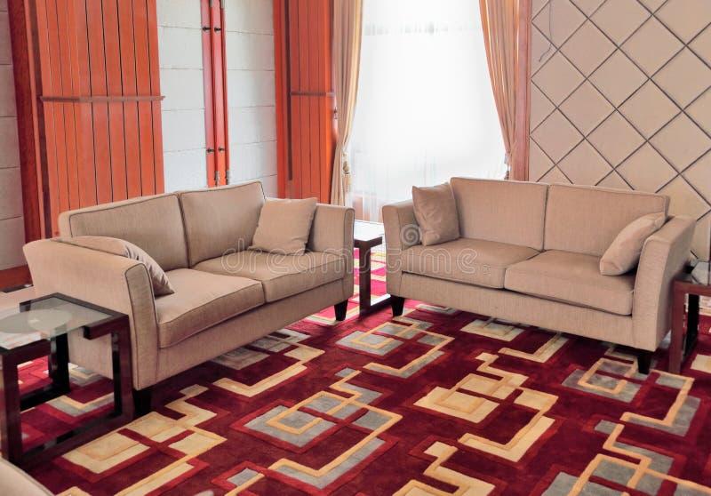 set sofa för lobby royaltyfri foto
