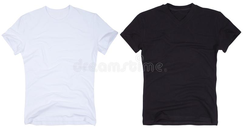 Set solated na białym tle koszulka zdjęcie stock
