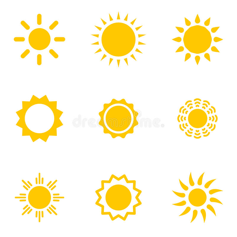 Set Sonnen stock abbildung