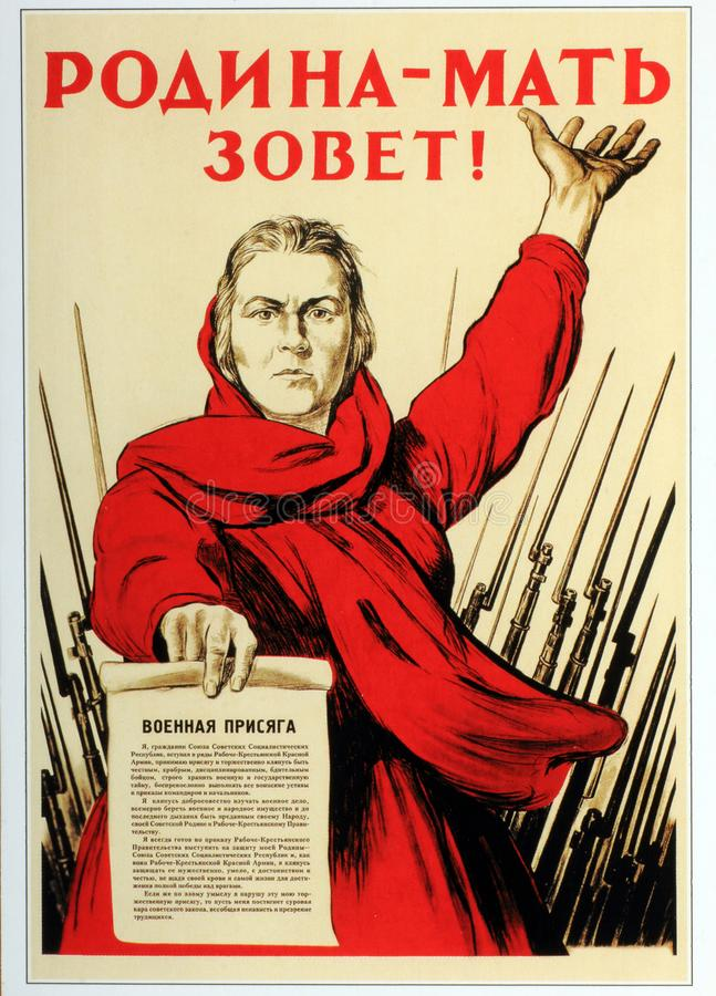 Download Photo Soviet Propaganda Poster Life Style Editorial Image