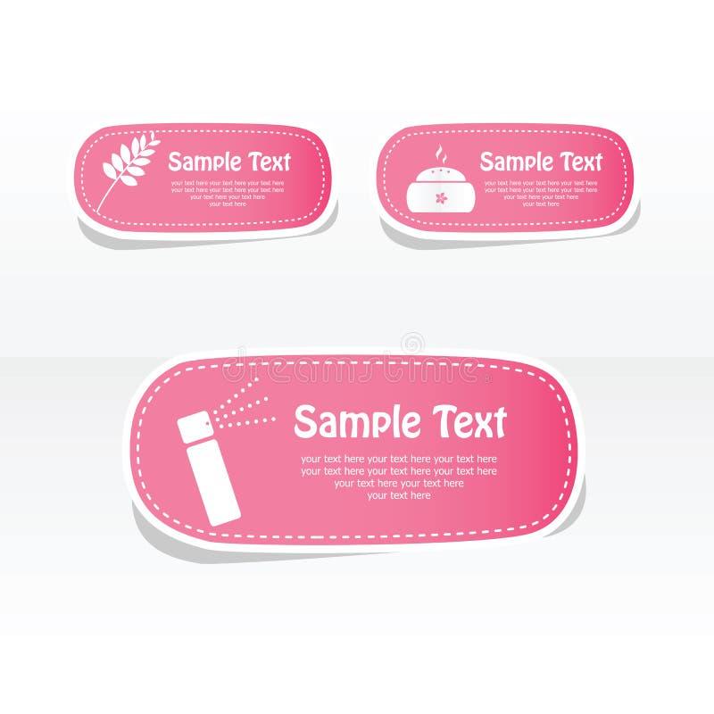Set of spa labels. Spa frame design vector illustration