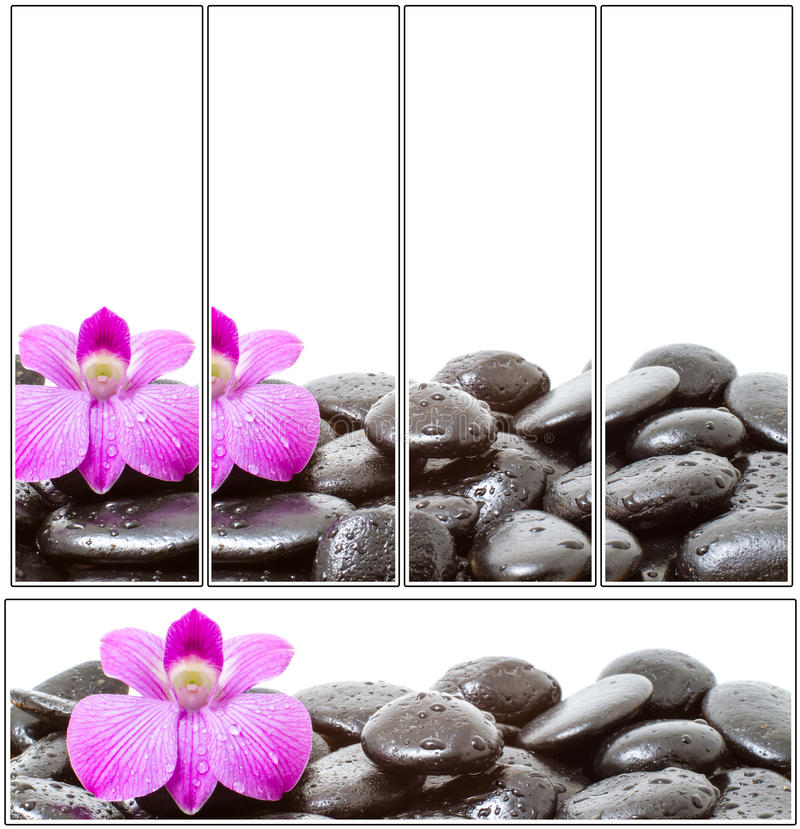 Set of spa Stones stock photo