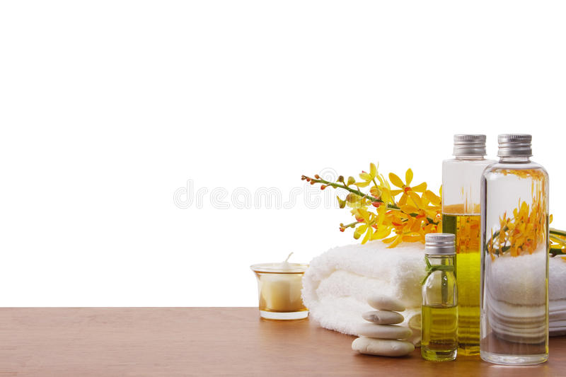 Download Set of spa treatment stock photo. Image of aromatherapy - 15719520