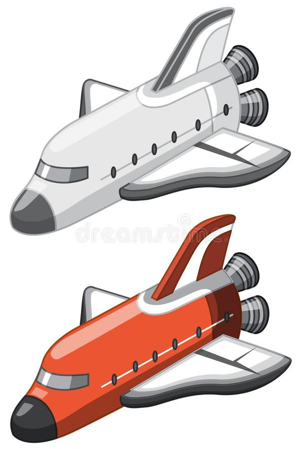 A set of space shuttle vector illustration