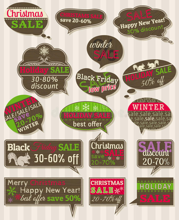 Download Set Of Special Sale Offer Labels And Banners Stock Vector - Image: 27811745