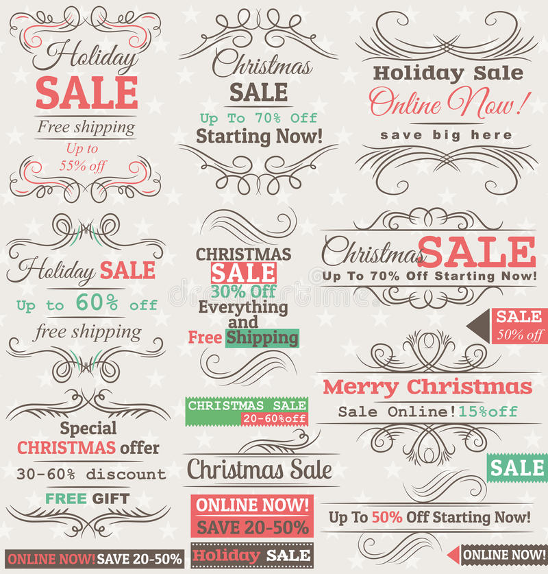 Download Set Of Special Sale Offer Labels And Banners Stock Vector - Illustration of retro, sell: 28052777