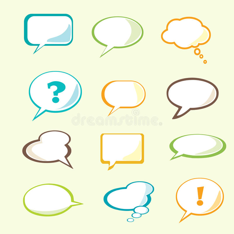 Download Set Of  Speech Bubble Stock Image - Image: 11314131