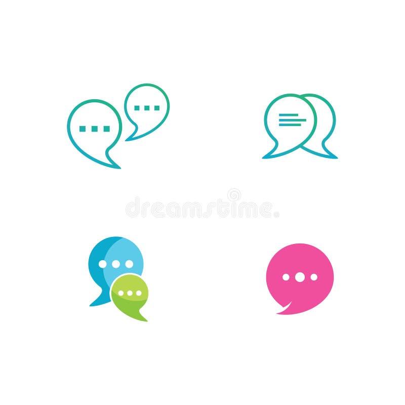 Set of Speech bubble Logo vector illustration
