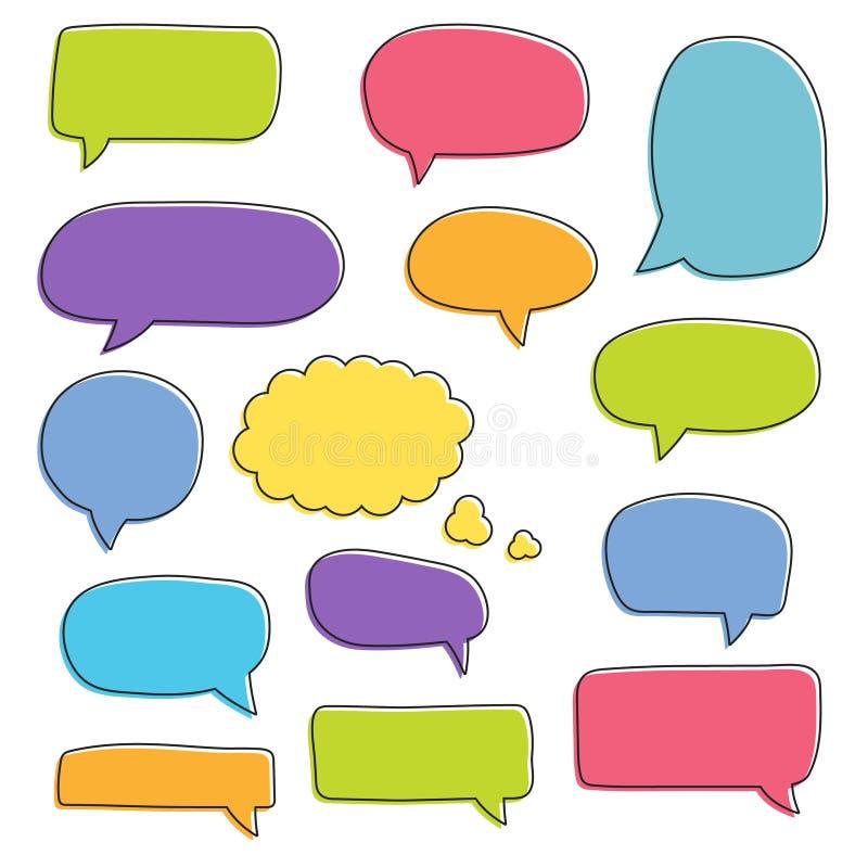 Set of speech bubbles. Blank retro empty comic bubbles. Stickers. Dialog balloons. Vector illustration.  vector illustration