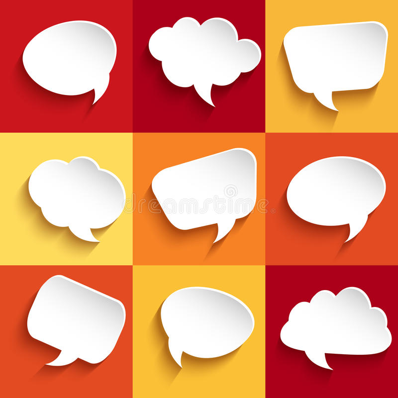 Set of speech bubbles vector illustration