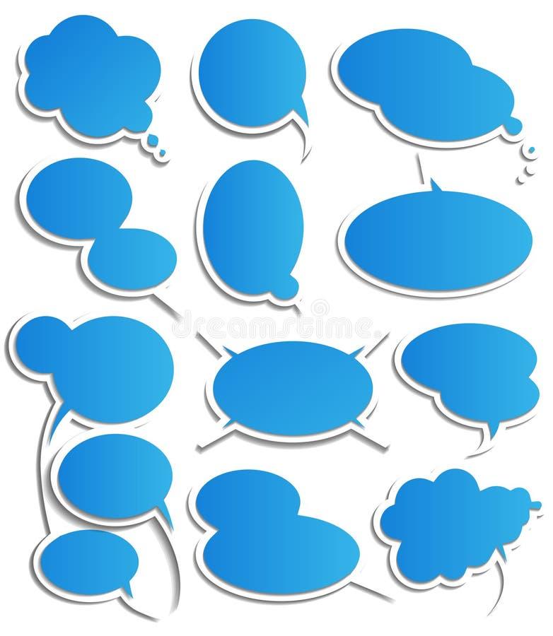 Set of speech bubbles stock illustration