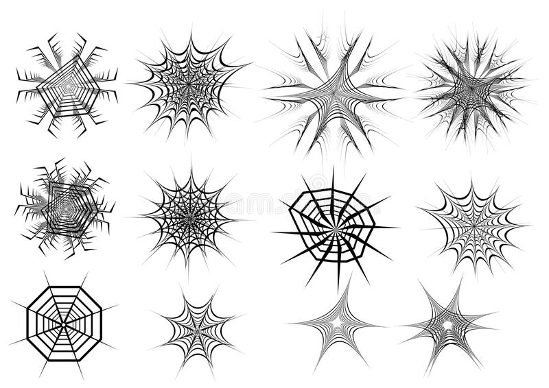Download Set of spider web stock vector. Image of abstract, cobweb - 21686984