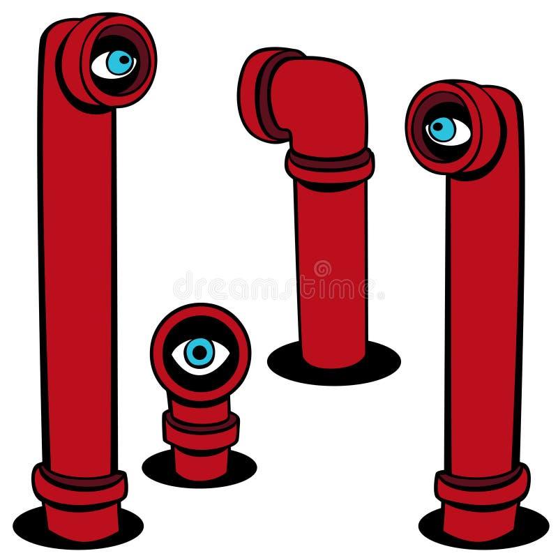 set spion för räckvidd royaltyfri illustrationer