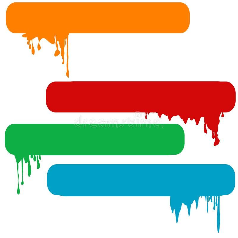 Set of splash color paint banners. Set of splash four color paint banners stock illustration