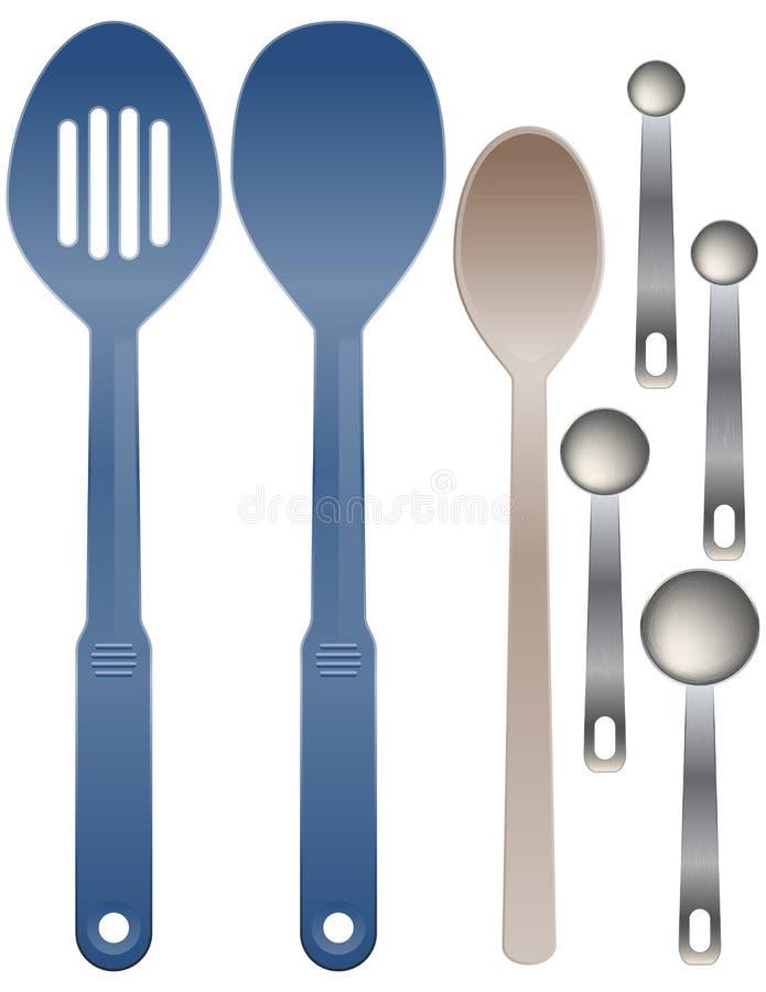 Set of spoons vector illustration