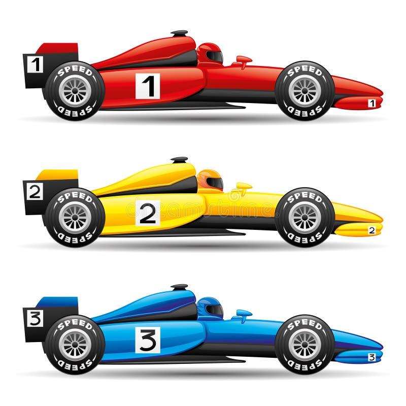Set sportów samochody royalty ilustracja