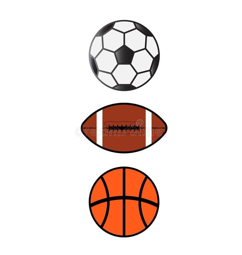 Set of sport balls stock image